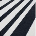 Contemporary Rugs large rectangular BARCODE model (160 X 230) (black, white)