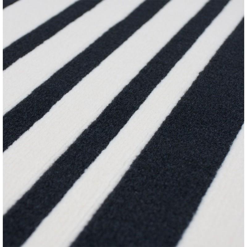 Tapis contemporain BARCODE rectangulaire grand modèle (160 X 230) (noir, blanc) - image 19904