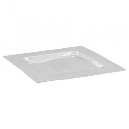 Centro de mesa SPIRIT cuadrada de aluminio (aluminio)