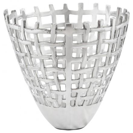 Trash multifunzione OVALO alluminio (alluminio)