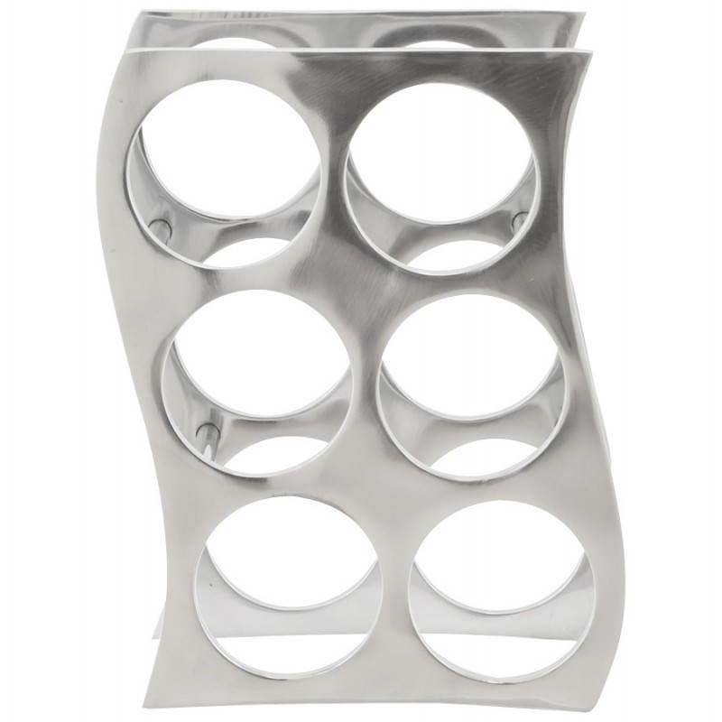 Porta bottiglie HOLES in alluminio (alluminio) - image 20061