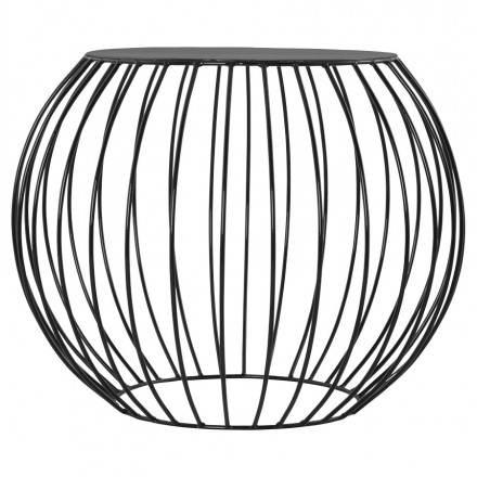 ANITA design coffee table in painted metal (black)