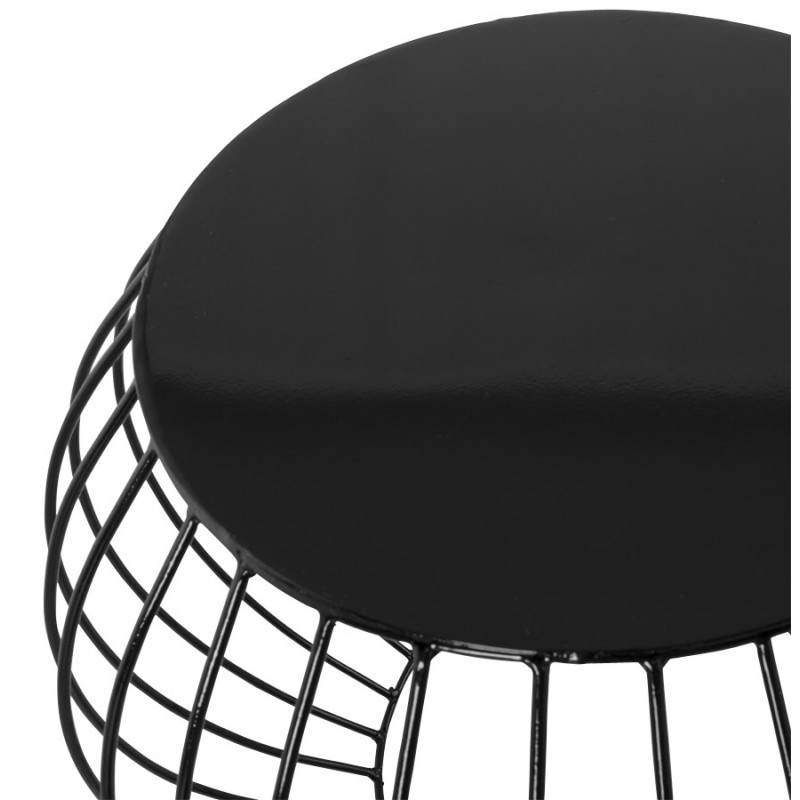 Table basse design anita en m tal peint noir for Table basse design noir