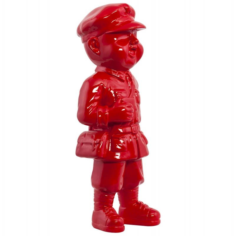 Statue geformt Schneemann Fiberglas SANY (rot)