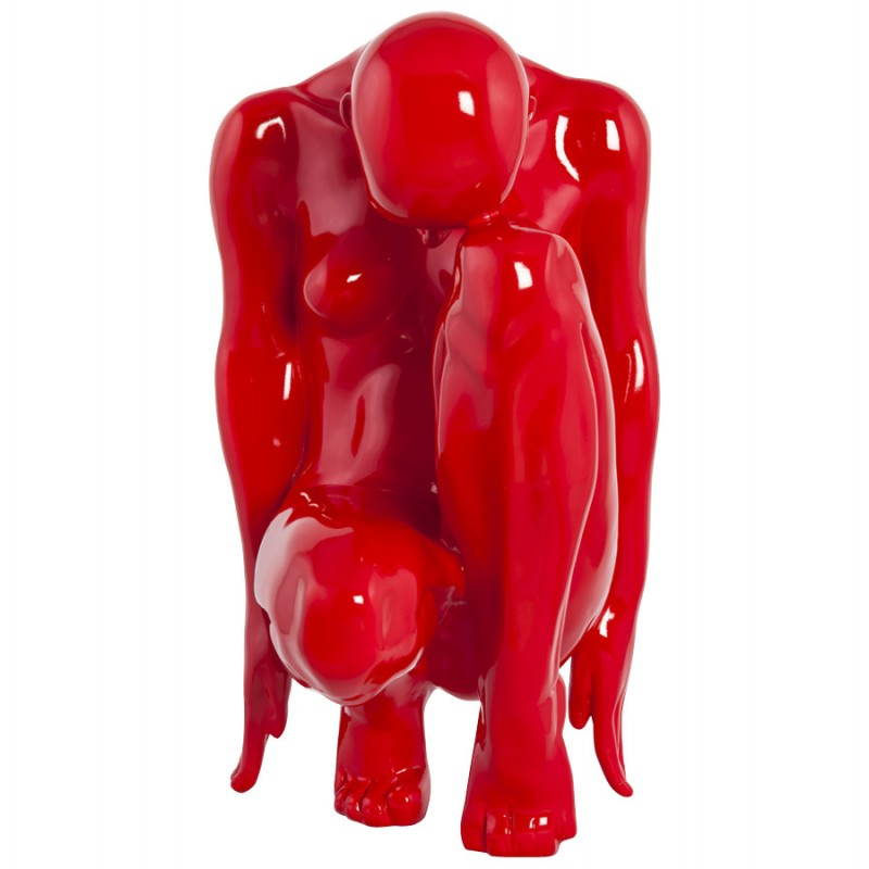 Statue-Form denken BIMBO -Glasfaser (rot) - image 20252