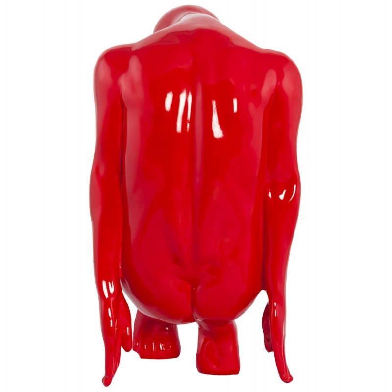 Statue-Form denken BIMBO -Glasfaser (rot) - image 20254