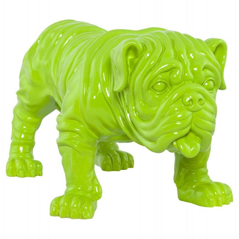 Cane a forma di Statuelle LOUME in fibra di vetro (verde)