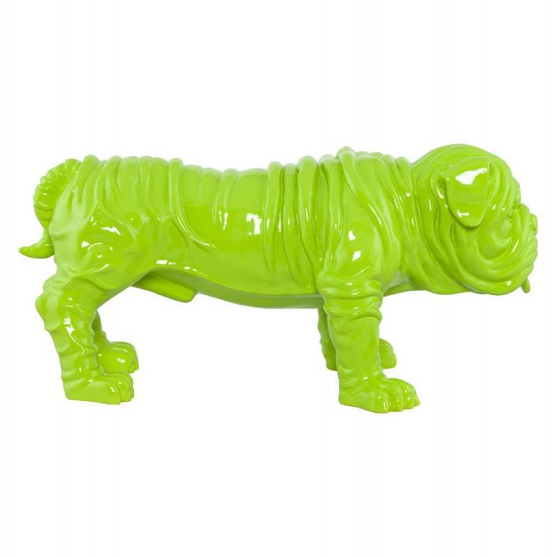 Statuelle-förmige Hund LOUME Fiberglas (grün) - image 20262
