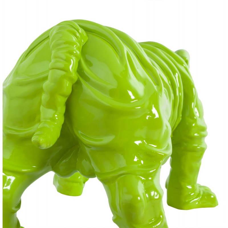 Statuelle-förmige Hund LOUME Fiberglas (grün) - image 20267