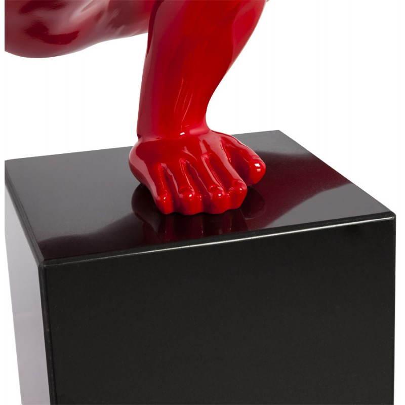 Statue-förmigen Sport-TROPHEE -Fiberglas (rot) - image 20272