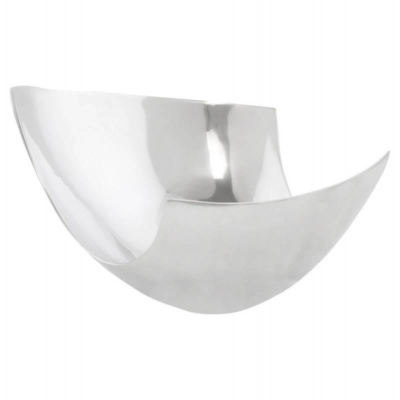 Corbeille multifonctions BOUEE en aluminium poli (aluminium)