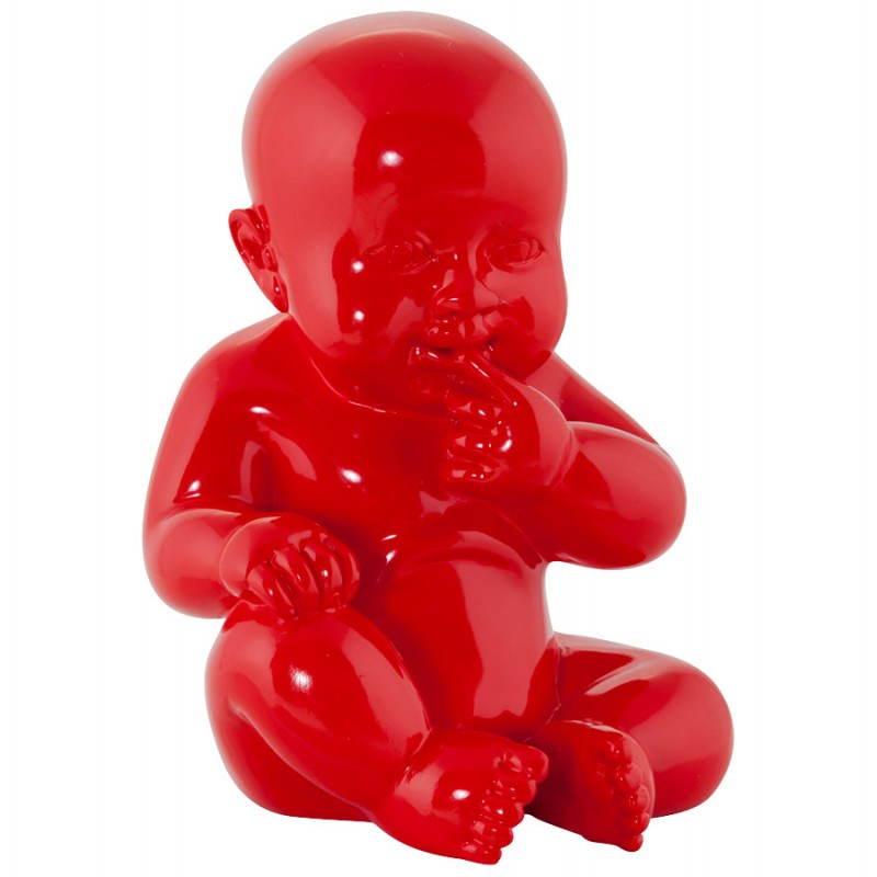 Estatuilla forma bebé KISSOUS con fibra de vidrio (rojo)