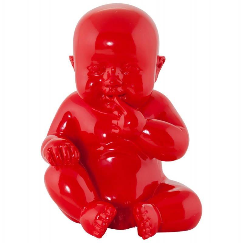 Forme Design Statuette En Kissous Bébé De Décoration VerrerougeObjets Fibre WHID92E