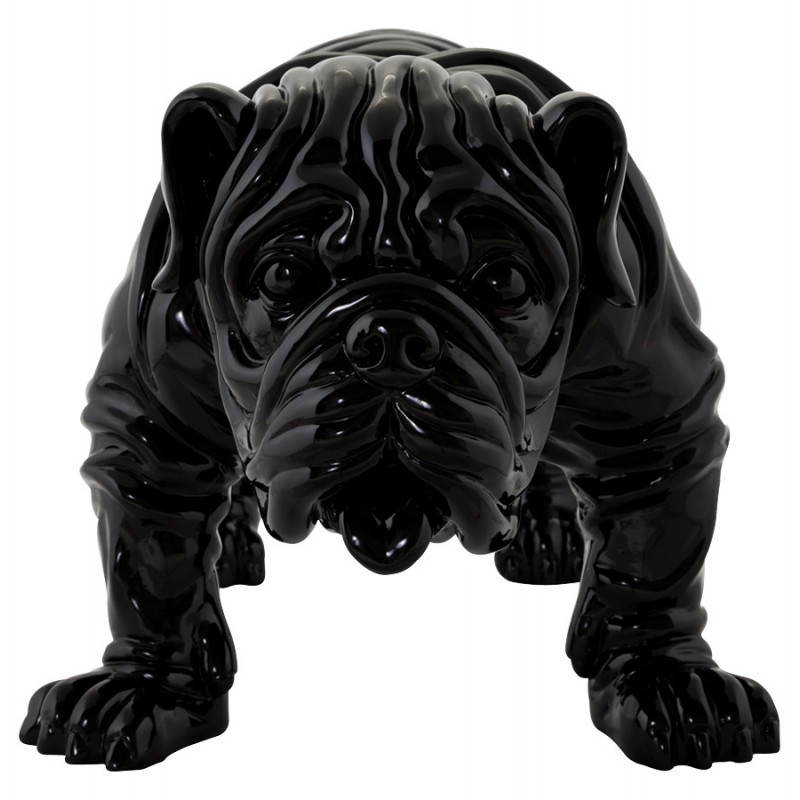 Statuelle dog form OUPS glass fiber (black) - image 20317
