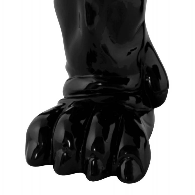 Statuelle dog form OUPS glass fiber (black) - image 20321
