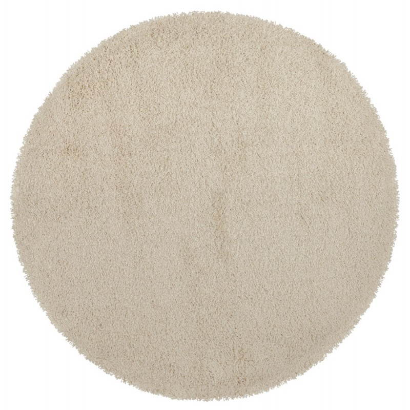 Contemporary rugs and design MIKE round small model (Ø 160 cm) (cream) - image 20340