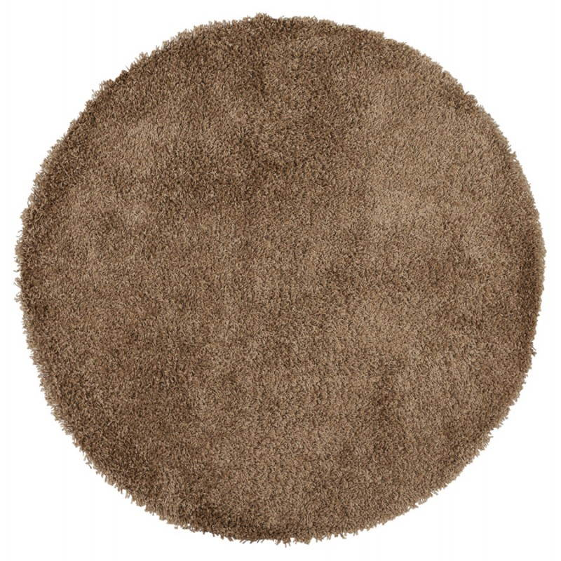 Contemporary rugs and design model large round MIKE (Ø 200 cm) (Brown) - image 20366
