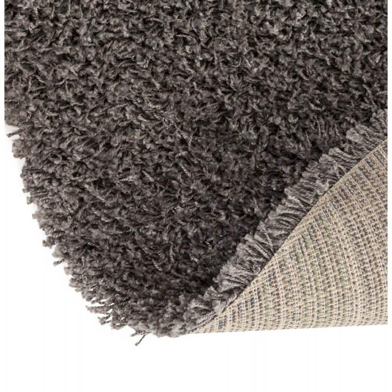 tapis contemporain et design mike rond petit mod le 160 cm gris. Black Bedroom Furniture Sets. Home Design Ideas