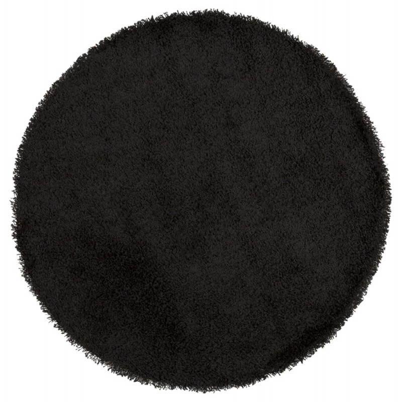 Zeitgenössische Teppiche und Design MIKE Runde kleines Modell (Ø 160 cm) (schwarz) - image 20401