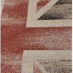 Alfombras contemporáneas y diseño bandera UK rectangular modelo pequeño (170 X 120) (negro, rojo, blanco)