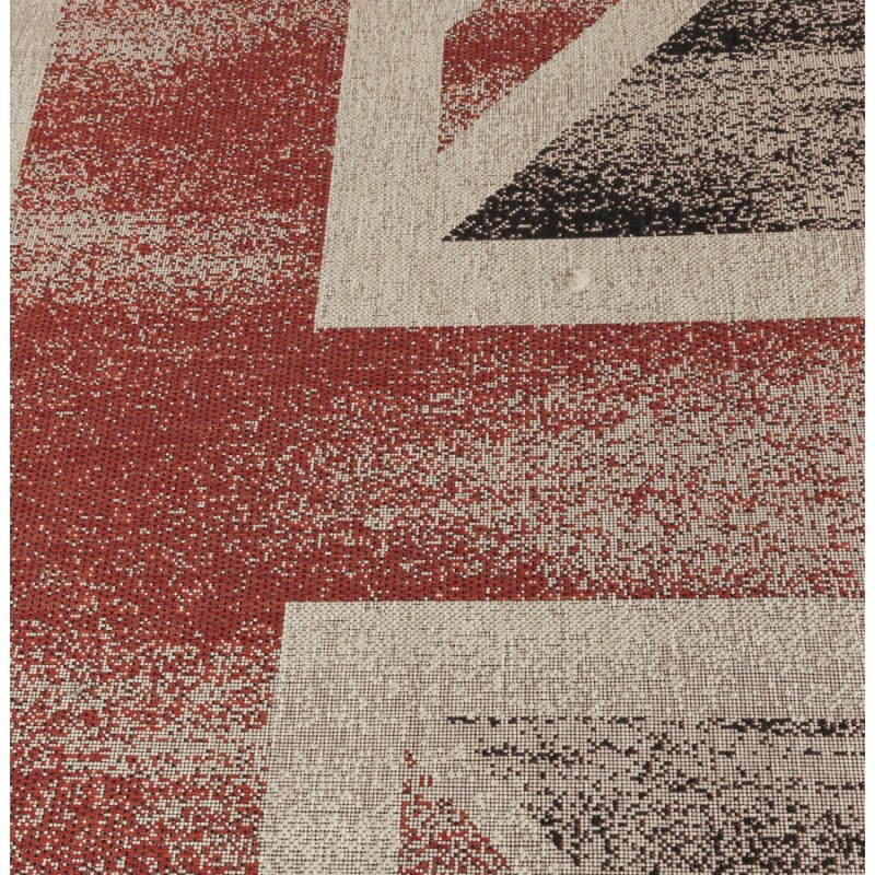 Contemporary rugs and design flag UK rectangular small model (170 X 120) (black, red, white) - image 20423
