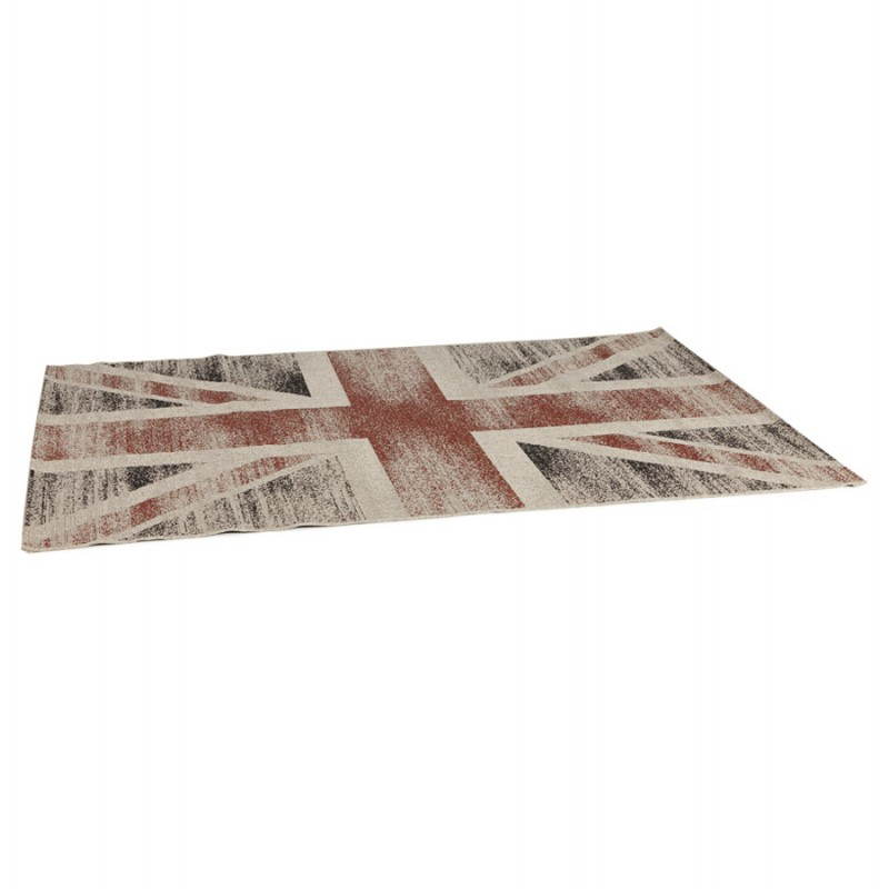 Contemporary rugs and design flag UK rectangular large model (230 X 160) (black, red, white) - image 20431