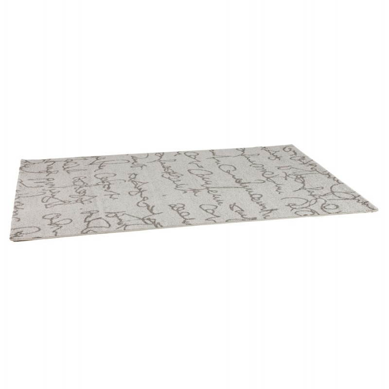 Contemporary rugs and rectangular FLORIEN design (160 X 230) (beige and black) - image 20442