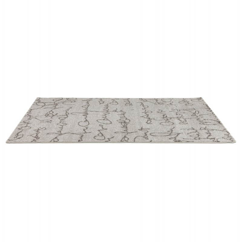 Contemporary rugs and rectangular FLORIEN design (160 X 230) (beige and black) - image 20443