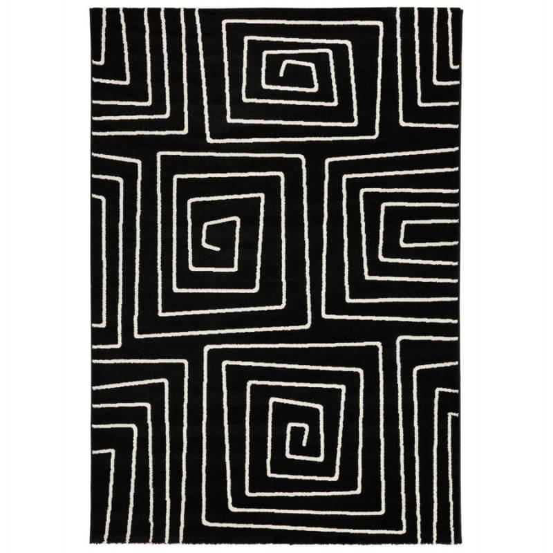 Contemporary rugs and rectangular RAFY design (160 X 230) (black, white)
