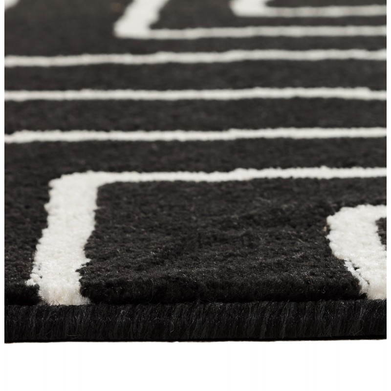 Contemporary rugs and rectangular RAFY design (160 X 230) (black, white) - image 20460