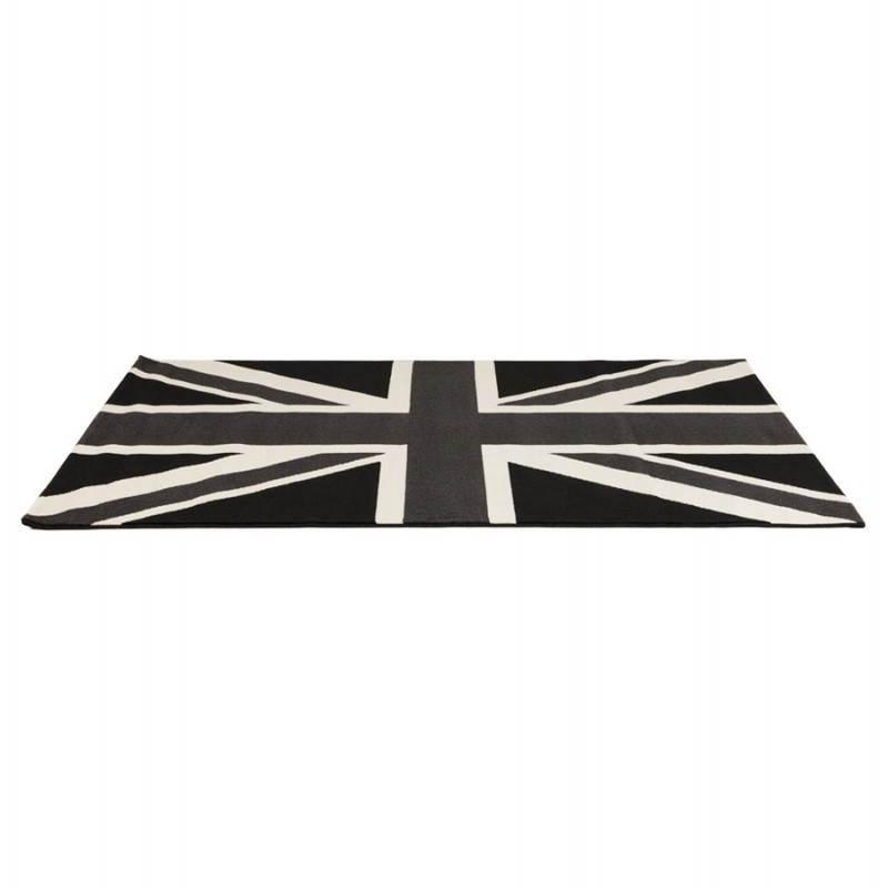 Tappeti contemporanei e design bandiera rettangolare LARA UK (nero, bianco) - image 20466