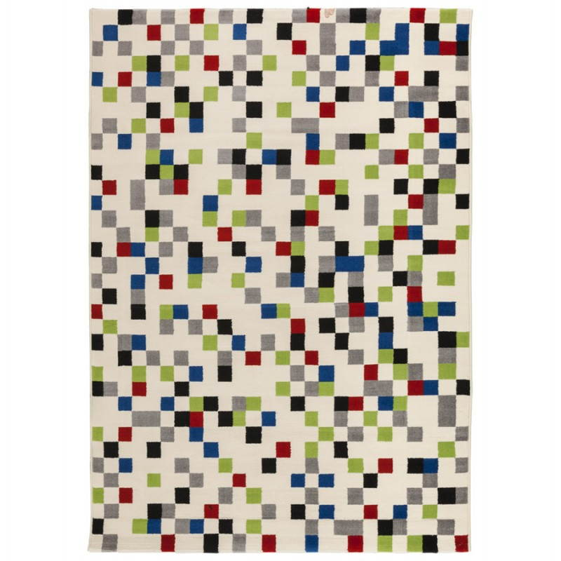 Tapis contemporain et design CARLA rectangulaire (multicolore) - image 20473