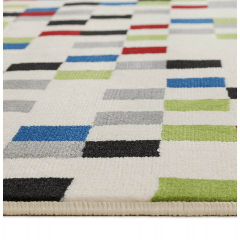 Tapis contemporain et design CARLA rectangulaire (multicolore) - image 20477