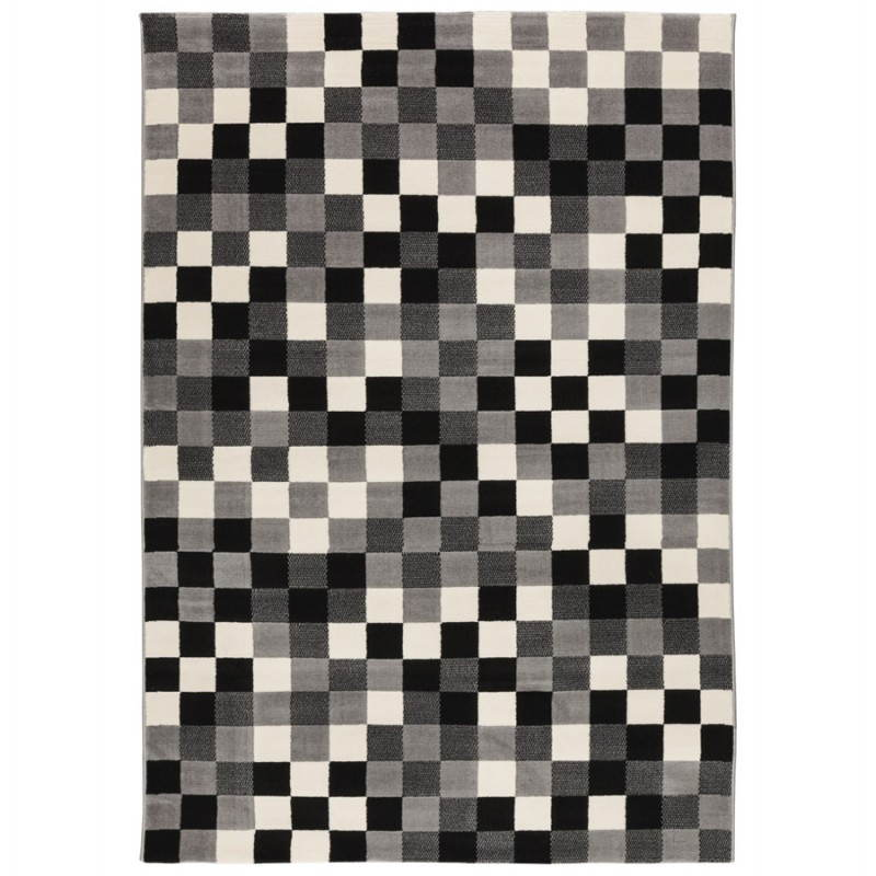 Contemporary rugs and design RONY rectangular (black, grey, white) - image 20480