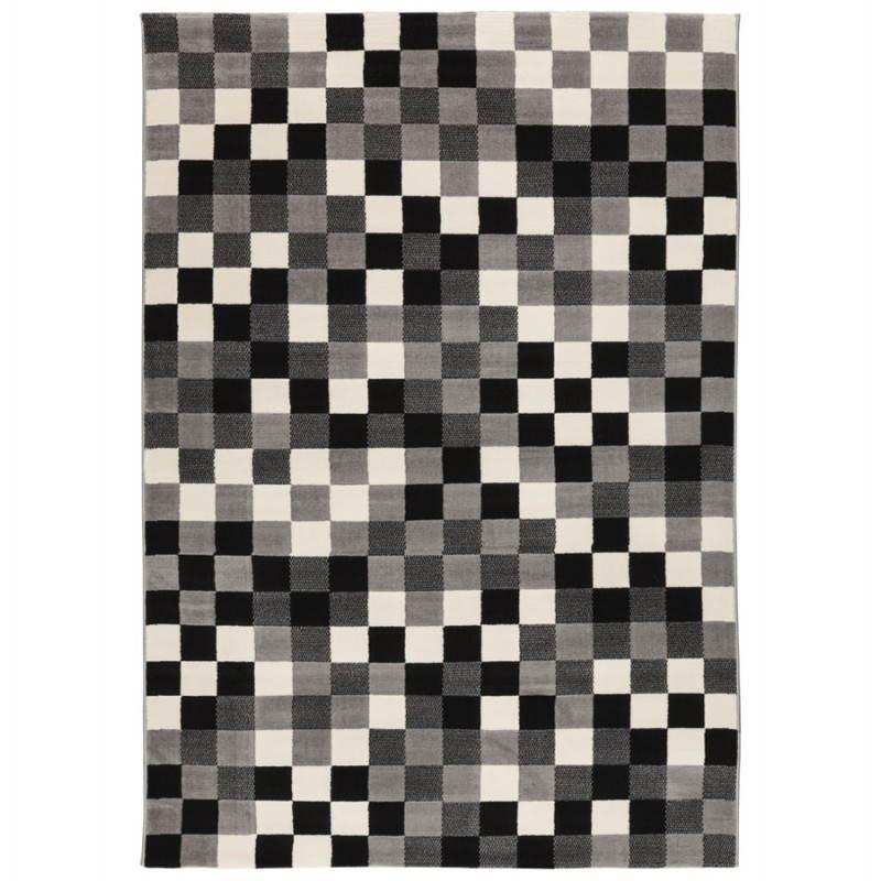 Zeitgenössische Teppiche und Design RONY rechteckig (schwarz, grau, weiß) - image 20480