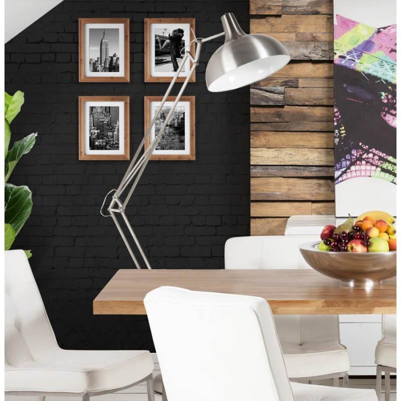 Pie de lámpara diseño COTINGA cepillado de metal (aluminio) - image 20520