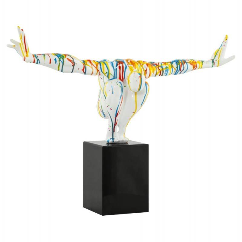statue forme nageur banco en fibre de verre multicolore. Black Bedroom Furniture Sets. Home Design Ideas