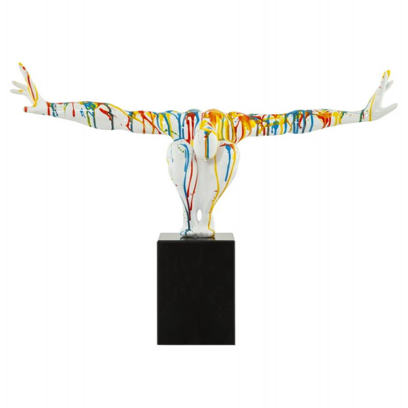 Estatua forma nadador BANCO fibra de vidrio (multicolor) - image 20522
