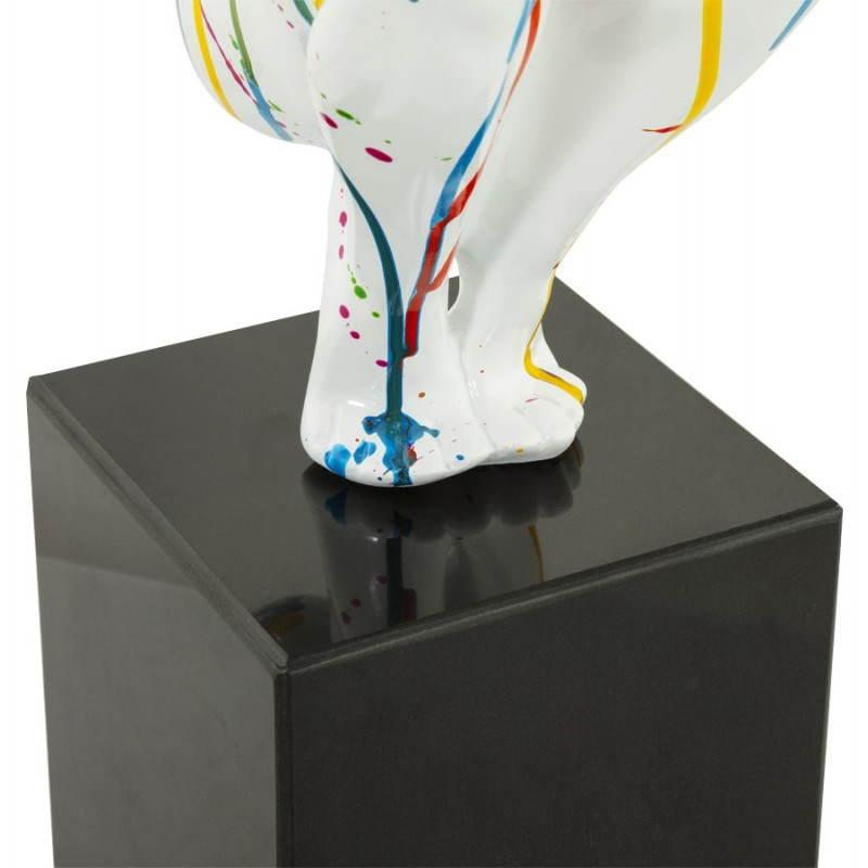 Statue forme nageur BANCO en fibre de verre (multicolore) - image 20529