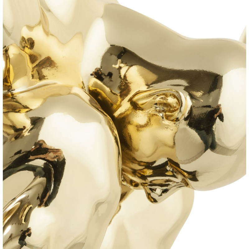 Statua forma nuotatore BANCO in fibra di vetro (oro) - image 20539