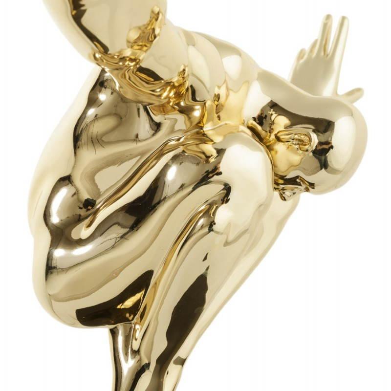 Statua forma nuotatore BANCO in fibra di vetro (oro) - image 20540