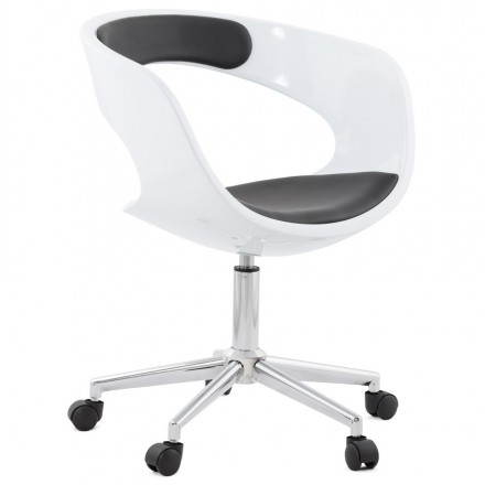 RAMOS rotating sphere office chair (white and black)