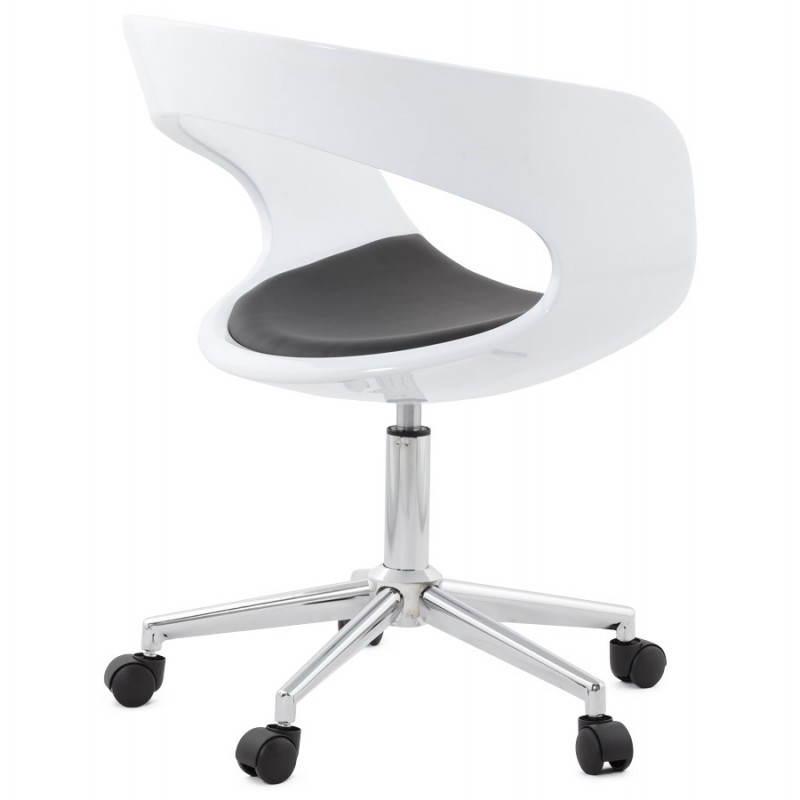 Chaise Bureau Ramosblanc Noir De Et Rotative Sphère 54ARjq3L