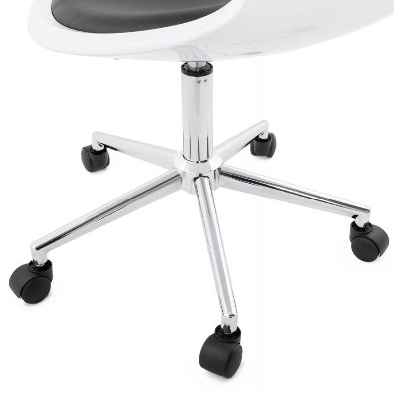RAMOS rotating sphere office chair (white and black) - image 20594