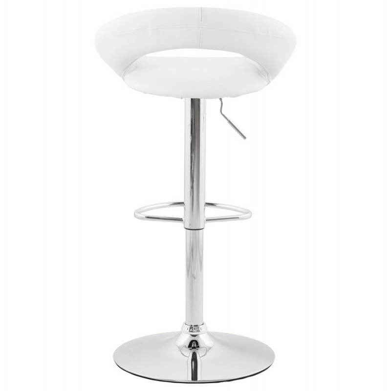 Contemporary round and adjustable bar stool IRIS (white) - image 20630
