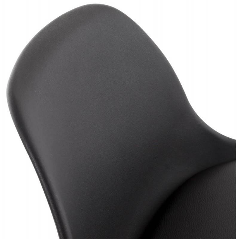 Tabouret de bar rond contemporain rotatif et réglable ROBIN (noir) - image 20669