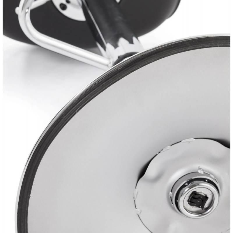 Tabouret de bar rond contemporain rotatif et réglable ROBIN (noir) - image 20676