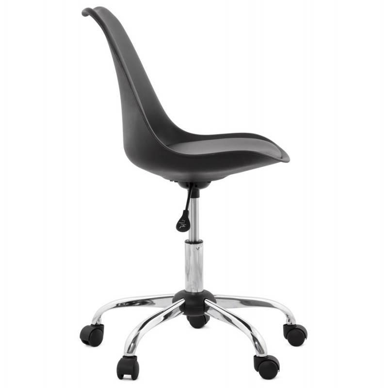 Design Chaises Bureau ChroménoirFauteuils Chaise Et En Polyuréthane Métal De Paul SMVpUz
