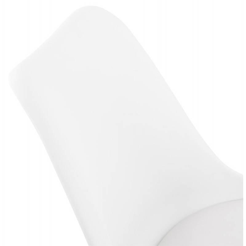 Chaise de bureau design PAUL en polyuréthane et métal chromé (blanc) - image 20716
