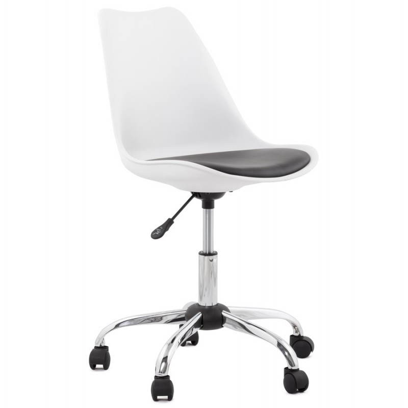 PAUL design office in polyurethane and chrome metal (white and black) Chair - image 20724